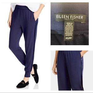 Eileen Fisher Jogger Pants with Velvet Stripe PS